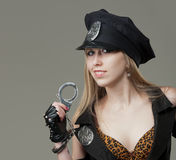 Sexy cop Royalty Free Stock Images
