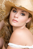 Sexy Country Girl. Beautiful sexy country girl portrait Stock Photos