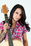 Sexy Country Girl with Guitar Royalty Free Stock Image
