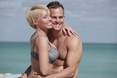 Sexy couple at the beach Royalty Free Stock Image