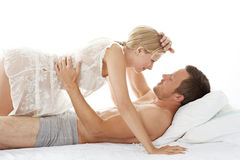 Sexy couple in bed. Stock Photo