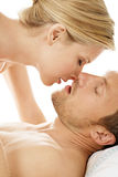 Sexy couple in bed. Stock Image