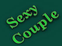 Sexy Couple bitch - inscription of golden letters Royalty Free Stock Image