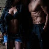 Sexy couple boy and girl Stock Photos