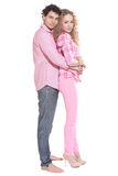 couple isolated on white Royalty Free Stock Photography