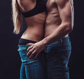 Sexy couple in love Stock Photography