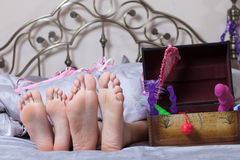 Sexy couple lying in bed. Royalty Free Stock Photo