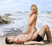 Sexy couple passion Stock Photos