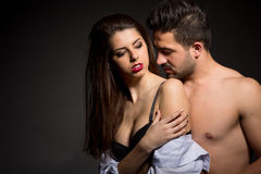 Sexy couple in studio Stock Images