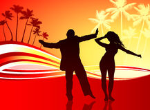 Sexy couple on tropical background. Original Vector Illustration: sexy couple on tropical background Stock Images
