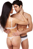 Sexy Couple In Underwear Royalty Free Stock Images