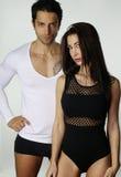Sexy couple wearing underwear Stock Image