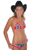 Sexy cowgirl in hat and bikini Royalty Free Stock Image