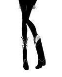 Sexy Cowgirl Legs Silhouette Royalty Free Stock Photography