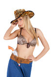 Sexy cowgirl posing Royalty Free Stock Photos