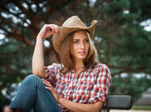 Sexy cowgirl. Royalty Free Stock Photos