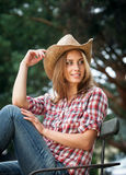 Sexy cowgirl. Stock Photography