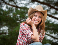 Sexy cowgirl. Royalty Free Stock Image