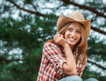 Sexy cowgirl. Stock Images