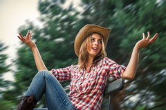 Sexy cowgirl. Stock Image