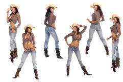 Sexy Cowgirls Royalty Free Stock Photo