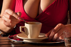 Sexy cup of coffee Stock Image