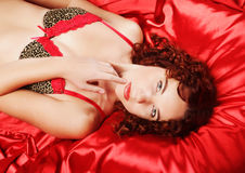 Sexy curly woman Royalty Free Stock Photos