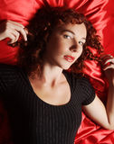Sexy curly woman Stock Images