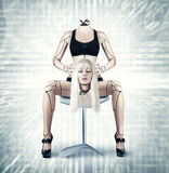 Sexy cyborg woman Stock Images