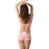 Sexy dame met pookcombinatie Royalty-vrije Stock Afbeeldingen