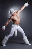Sexy dancer in cowboy costume Royalty Free Stock Photography