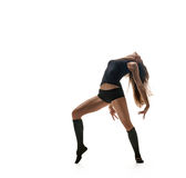 Sexy dancer. dancing silhouette Royalty Free Stock Images
