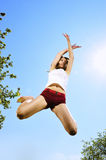 dancer jumping Royalty Free Stock Photo