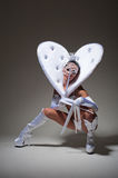 dancer in white costume Royalty Free Stock Photos
