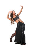 Sexy dancing brunette girl with visage 4 Royalty Free Stock Photos