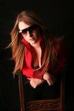 Sexy dans Laura rouge Image libre de droits