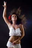 Sexy dansende vrouw Stock Afbeeldingen