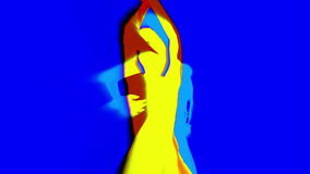 Sexy dansersschaduw, silhouet vector illustratie