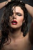 Sexy dark-haired girl Stock Photo