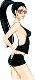Sexy de aantrekkingskrachtmeisje van de disco Stock Afbeelding