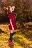 Sexy de herfstvrouw Royalty-vrije Stock Foto