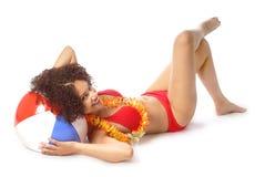 Sexy de zomermodel Royalty-vrije Stock Foto