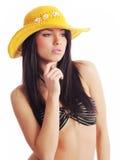 Sexy de zomervrouw royalty-vrije stock afbeelding