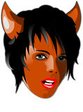 Devil. Hot red girl, illustration stock illustration