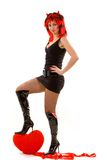 Sexy devil woman Stock Images