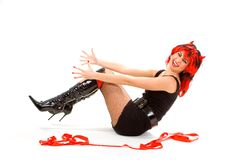 Sexy devil woman isolated Stock Image
