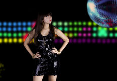 disco chick Royalty Free Stock Photo