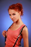 Sexy disco girl Stock Photo