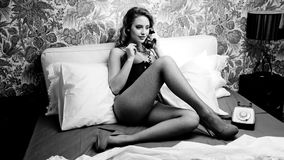 disco telephone woman