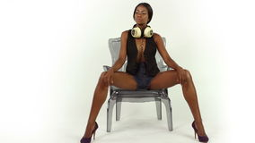 Sexy discovrouw stock videobeelden
